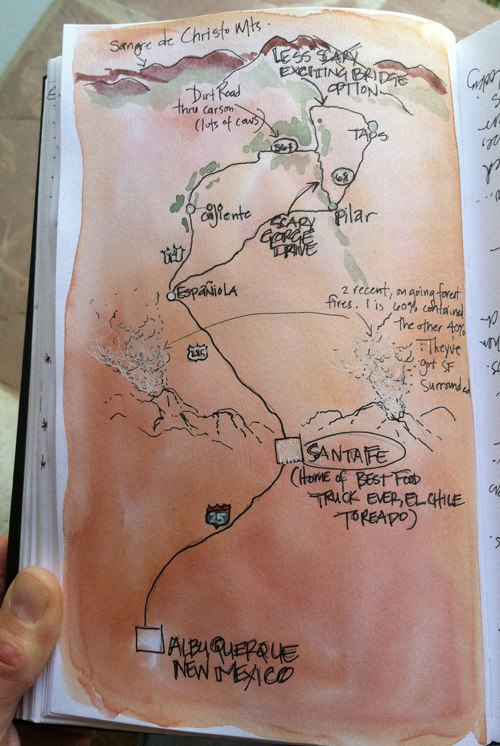 Map to taos