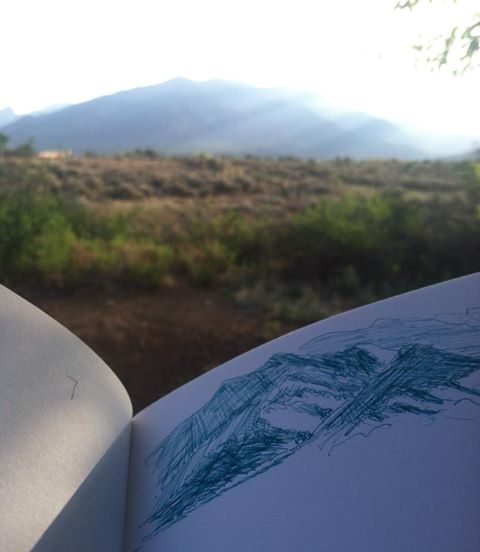sketching-taos-mountain