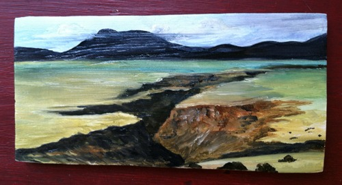 gorge painting sketch