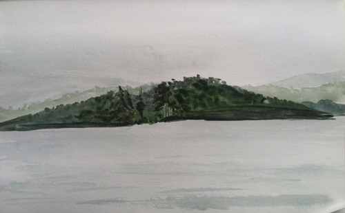 long pond sketch