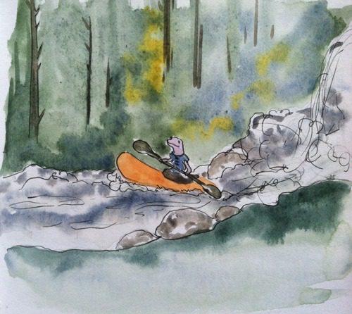 salamander kayaking