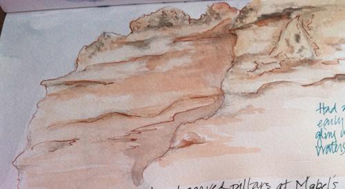 sketch of ojo cliff