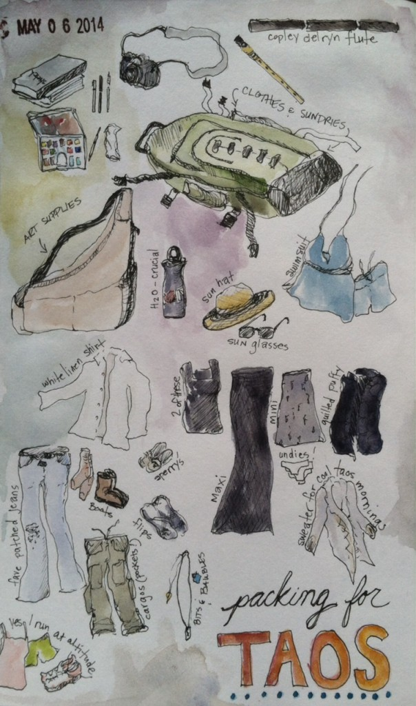 Taos Illustrated packing list