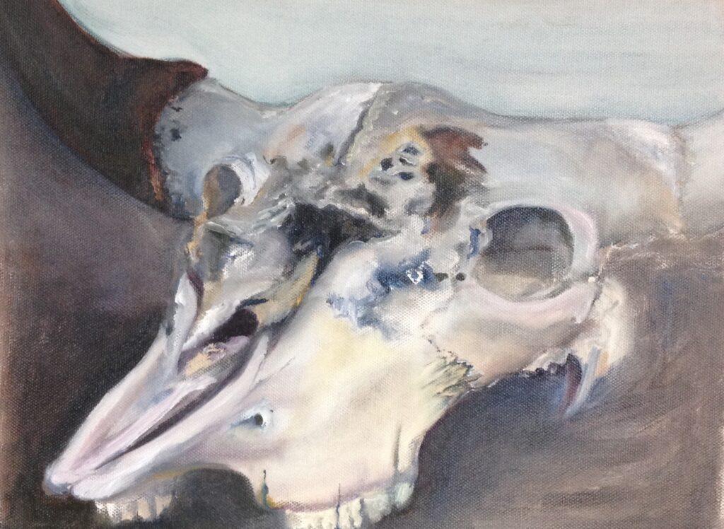 skull study oil 1