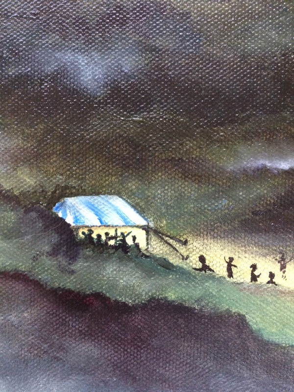 finished painting detail - the musicians tent