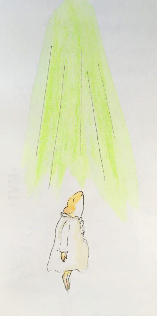 Ginger heads up to meet the green light