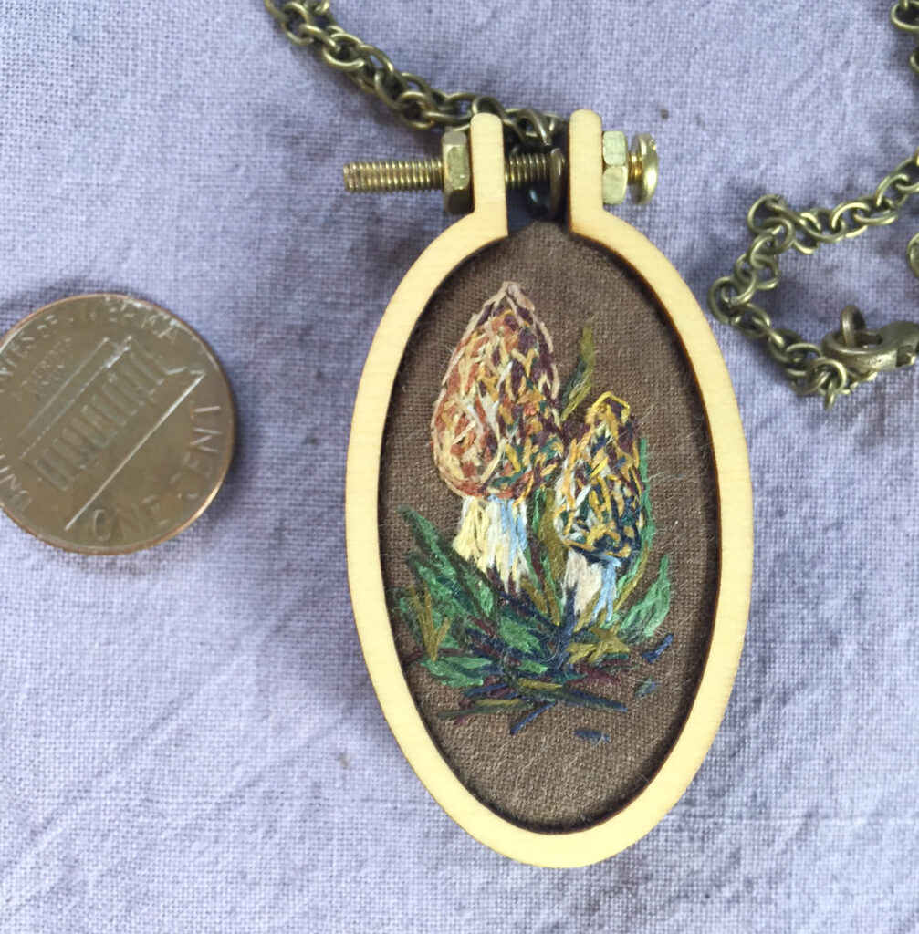 morel embroidery