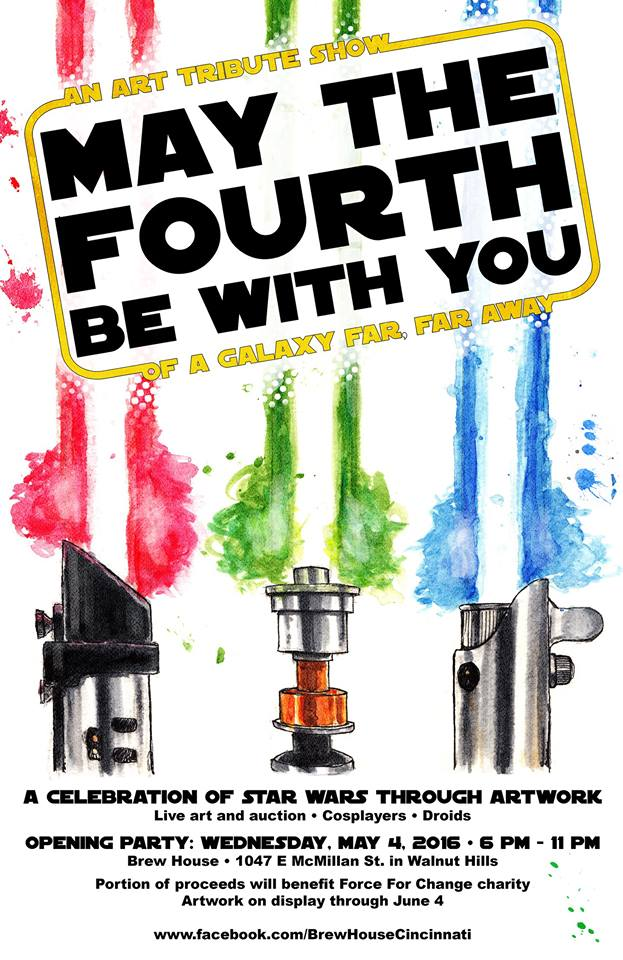 Kevin Necessary's poster for the Star Wars tribute show