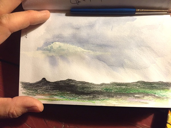 sketching clouds