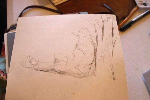 sketching tara