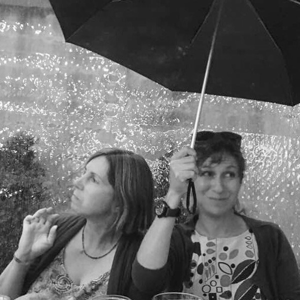 Ellen and I attempted to stay dry whilst at dinner one night. We look rather sweet and somewhat Parisian or something I believe!
