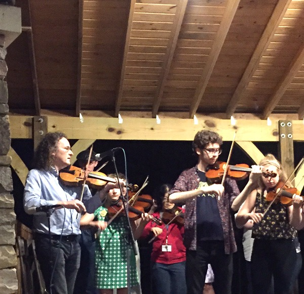 Jack played in the showcase with his fiddle class taught by Martin Hayes, the Buddha of the Fiddling world