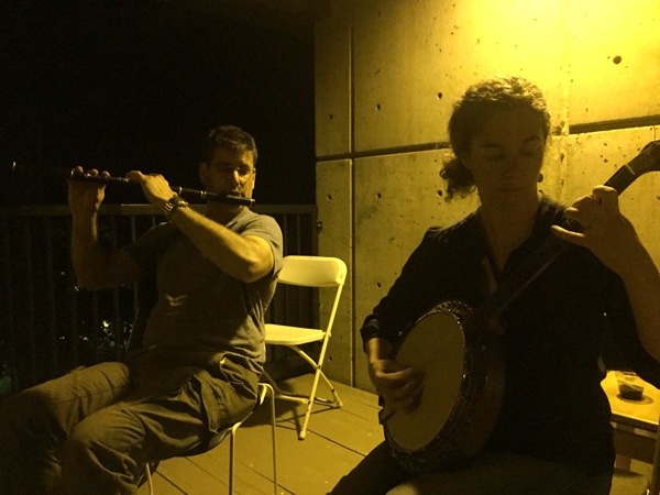 Nights in the breezeway provided lovely acoustics and a break away from the crowds round the regular session tents.