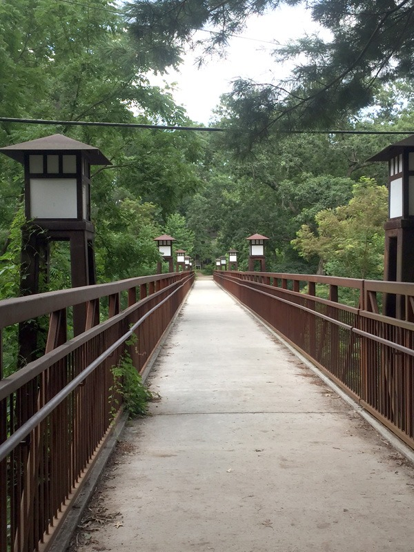 The walk from our living quarters to meals and other things over on campus.