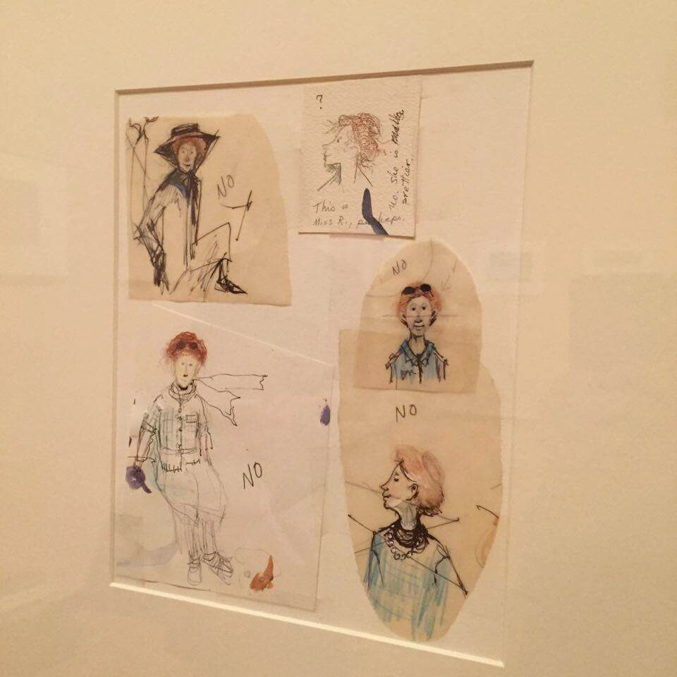To see some of Cooney's original sketches make her books seem more real to me