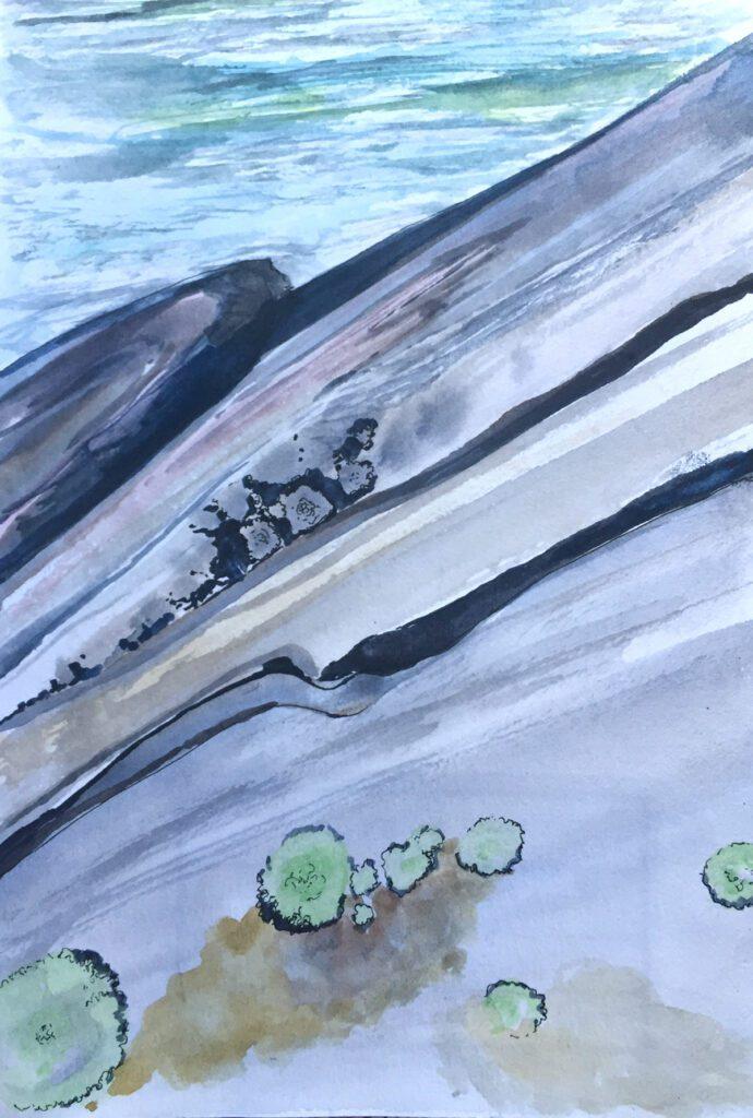 I even drew an impression of the stones I saw.