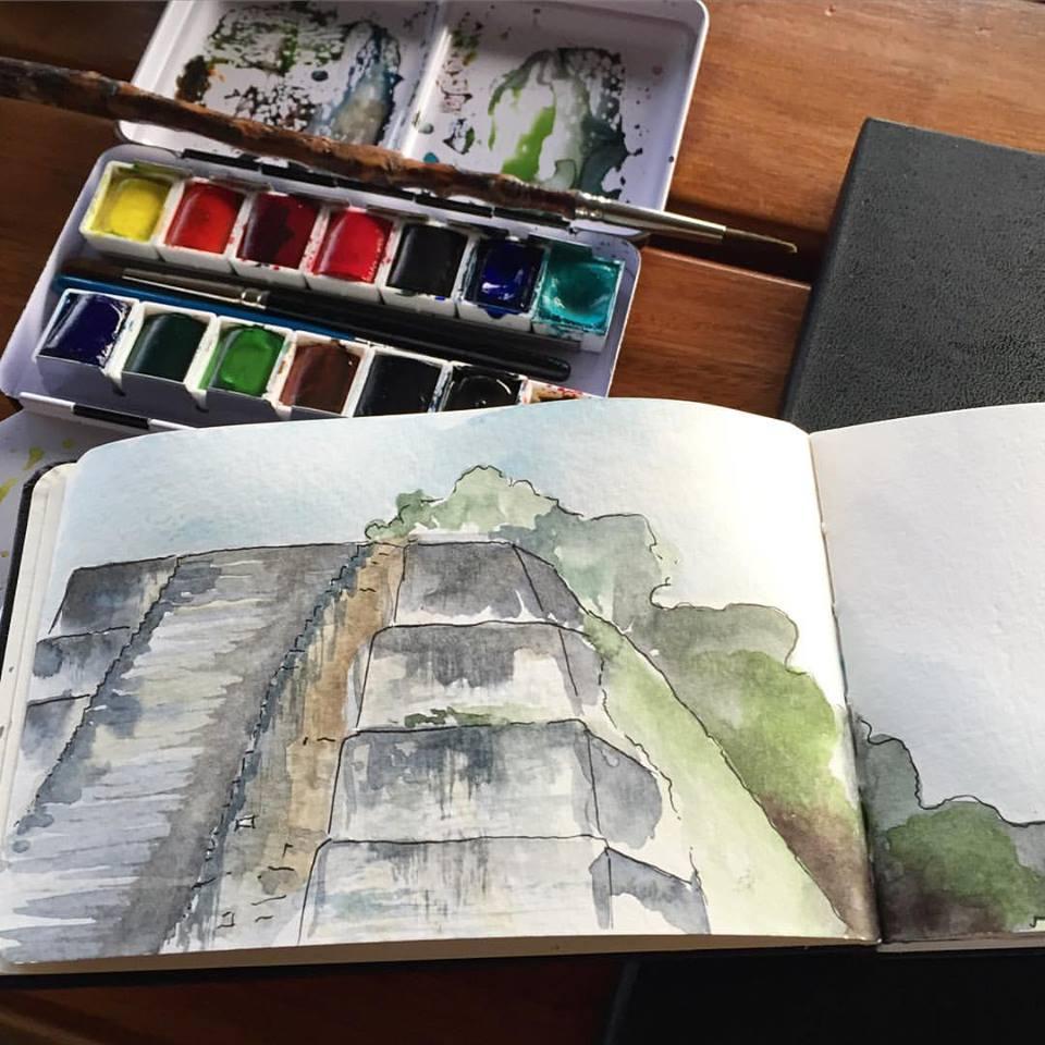tikal-guatemala-sketch